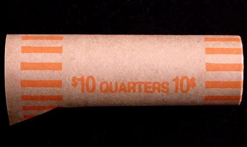 Preformed Coin Wrappers for 40 QUARTERS $10 Bag of 100