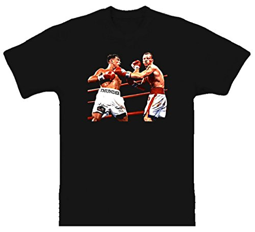 BrooklynSteez Men's Arturo Gatti Vs Micky Ward Classic Fight Retro Boxing T Shirt XL (Boxing Classic T-shirt)