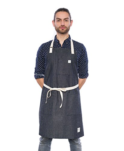 Crew Apparel Star And The Dark Night Denim Apron Made in USA by Crew Apparel