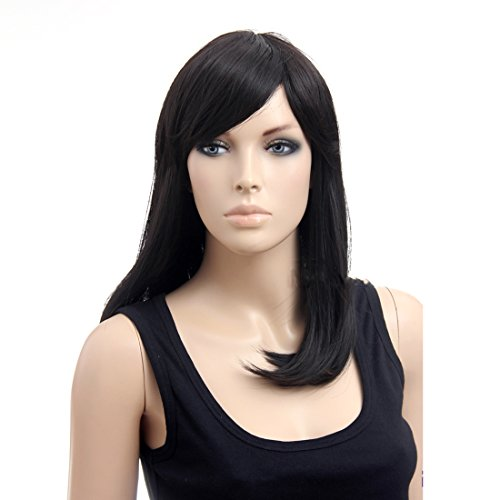 Long Black Natural Straight Sexy Women Wigs (Fake Wigs)