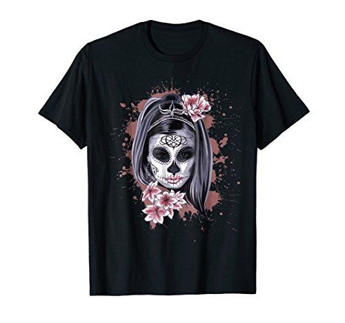 La Calavera Catrina Halloween Candy Sugar Skull Girl T-Shirt