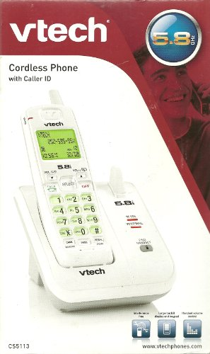 Vtech 5.8ghz Analog Cordless Phone with Caller Id, Cs5113 ()