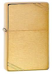 Zippo Pocket Lighter with Slashes, Vintage Street Chrome