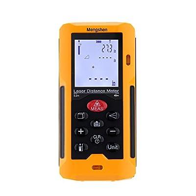Mengshen® Laser Measure Handy Laser Distance Meter with Long Range and Backlit Display Handheld Range Finder Meter Portable Measuring Device MS-MP