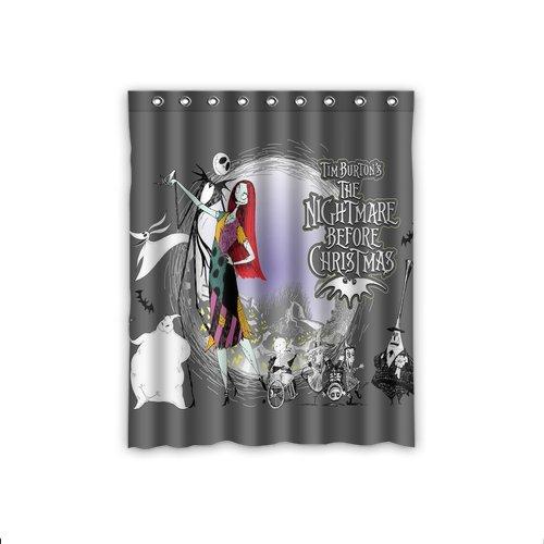 ScottShop Custom The Nightmare Before Christmas Window Curtains Bedroom Decor / drape / panels / treatment Polyester Fabric 52