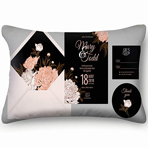 best bags Wedding Invitation Cards Cover Invite Thank Miscellaneous Vector Home Decor Wedding Gift Engagement Present Housewarming Gift Cushion Cover 20X30 Inch