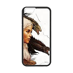 iPhone 6 Plus 5.5 Inch Cell Phone Case Black Khalessi And Dragons Y1W3UF