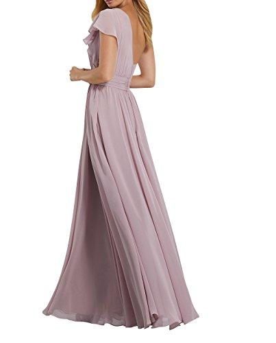 Kleider Ein Promkleider Brautmutterkleider Langes mit Chiffon Traeger Partykleider Grün Jugendweihe Abendkleider Charmant Damen Z8AvqxT
