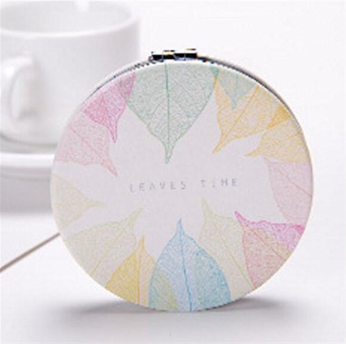 pinjewelr Women's Accessories Mini Foldable Cartoon Colorful Leaves Pattern Mirrors for Crafts Decoration Cosmetic Accessory by Pinjewelry