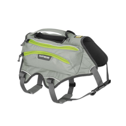 RUFFWEAR - Singletrak Hydration Pack for Dogs, Cloudburst Gray, Small (Dog Backpack Ruffwear)