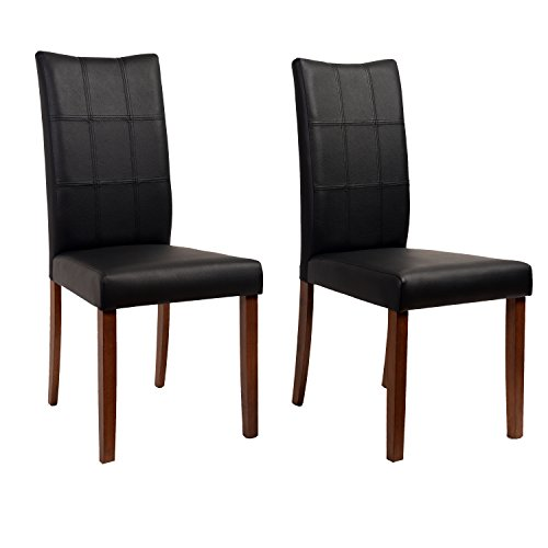 Midtown Concept Espresso Christine 2 Piece Living Room Dining Chair Set