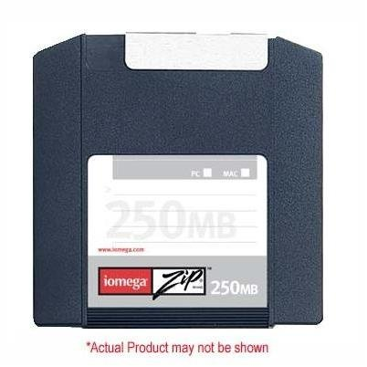 Iomega 8PK ZIP 250MB SLEEVE PC/MAC (32628) (Discontinued by Manufacturer) by Iomega