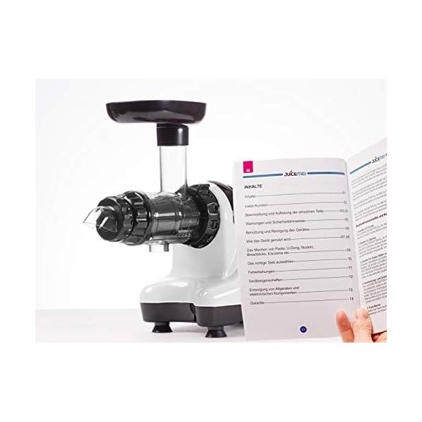 Estrattore di succo JuiceMe DA 1000 - Tecnologia Cold Press Slow juicer (Bianco) - 2021 -