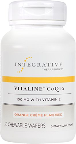 Integrative Therapeutics - Vitaline CoQ10 - 100 mg CoQ10 with Vitamin E - Orange Crème Flavor - 30 Chewable Wafers