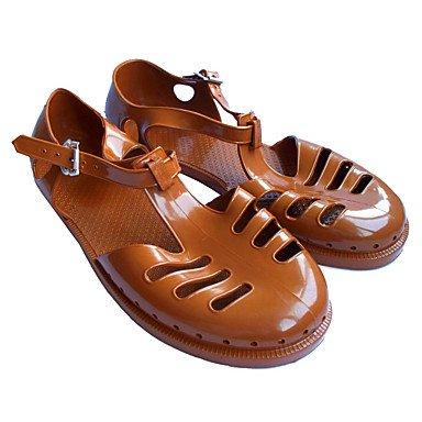 SHOES-XJIH&Uomini sandali Comfort PU Tulle Casual molla Blu Marrone piatto nero,blu,US12 / EU45 / UK11 / CN48