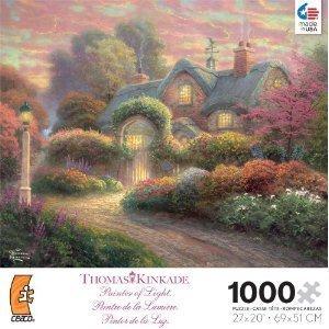 Thomas Kinkade Cottage - Thomas Kinkade 1000 Pc Rosebud Cottage Puzzle by Ceaco