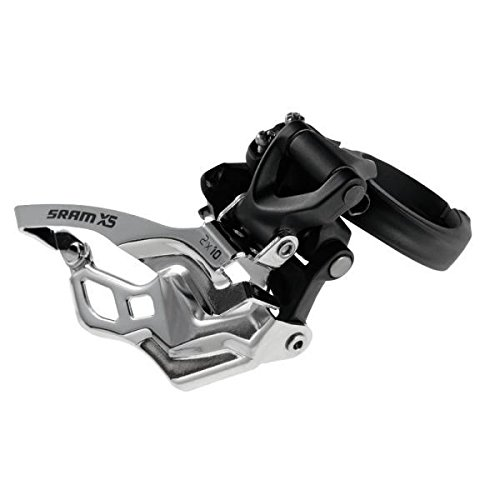 SRAM X5 Bicycle Front Derailleur with 2 x 10 High-Clamp 318/349 Black Bottom Pull