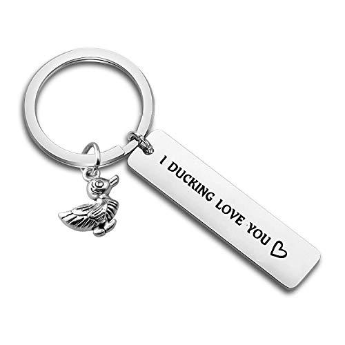 ENSIANTH Gift for Boyfriend I Fucking Love You Cute Duck Pun Keychain I Ducking Love You for Boyfriend Husband Best Friends (Ducking Keychain)
