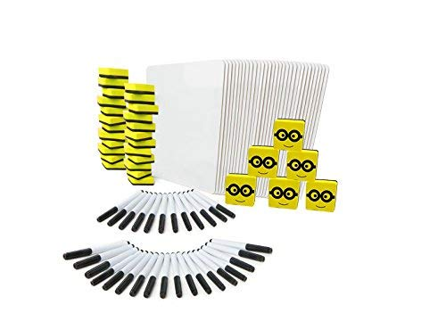Dry Erase Boards   30 Lapboard Class Set   With Dry Erase Whiteboard Markers , Erasers   Perfect board For Kids, Students, Teachers in The Classroom, Home or Office