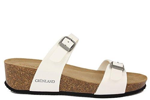 mujer vestir blanco para Sandalias de GRUNLAND x0FvRq