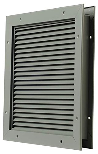 National Guard L700BF18X24 L-700-BF-18X24 Part Louver Steel 18 x 24'' , 18'' Height, Aluminum by National Guard