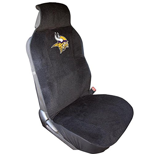 NFL Minnesota Vikings Seat Cover, Black, One Size (Decorative Car Seat Covers)