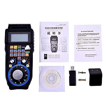 Inal/ámbrico Electr/ónico Volante 6-Axes Controlador Generador de Pulso Manual MPG para CNC MACH3