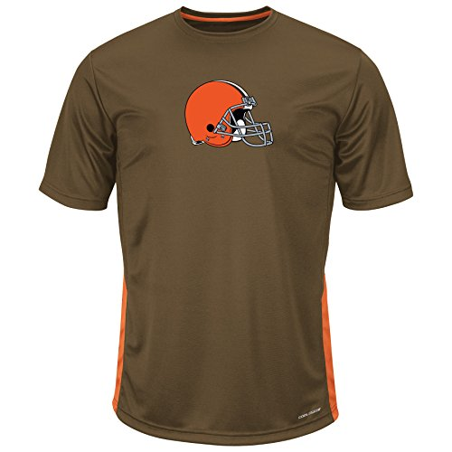 Profile Big & Tall NFL Cleveland Browns Short Sleeve Synthetic Tee, 4X Tall, Brown by Profile Big & Tall