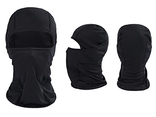 Outgeek Blaclava Ski Mask Motorcycle Cycling Mask Balaclava Winter Black Full Face Mask
