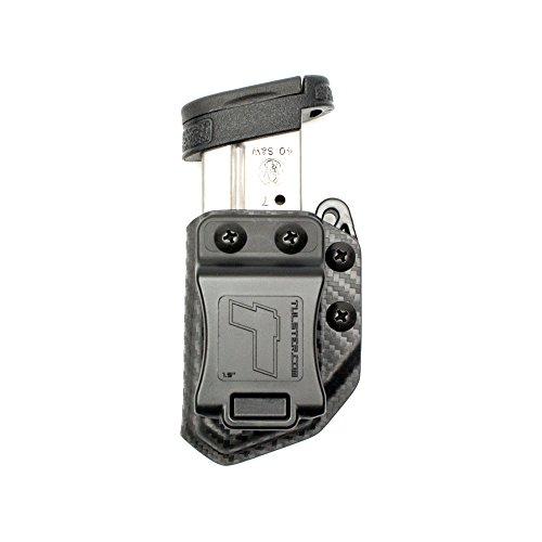 Tulster Universal 9mm/.40 Single Stack Mag Carrier Echo Carrier IWB/OWB (Black Carbon Fiber)