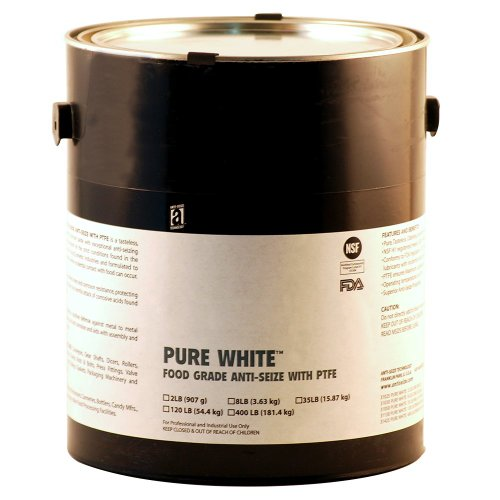 PURE WHITE 31030 Food Grade Anti-Seize Compound with PTFE, 1 Gallons, White, Paste by Anti-Seize Technology