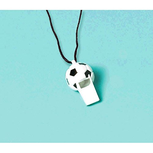 Soccer Whistles (Value 24-count) Party -