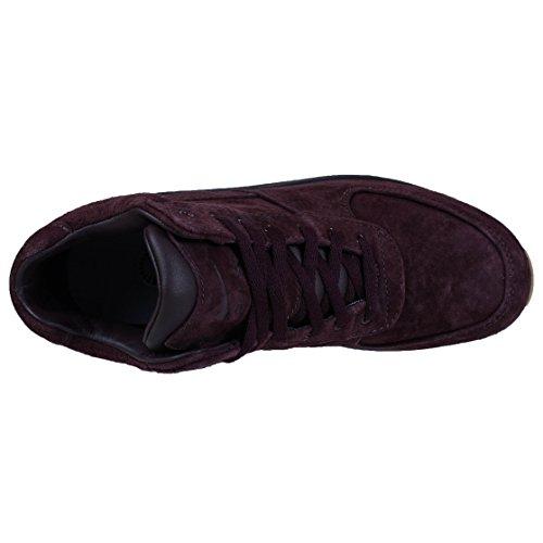 Nike Mens Acg Air Max Goadome Stivali In Pelle Bordeaux