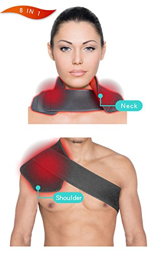WELL-DAY Multi-Purpose Heat Therapy Wrap Support, Electri...