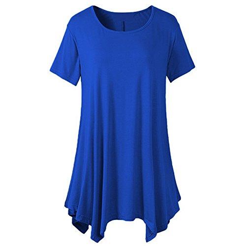 Women Short Sleeve Tunic Solid