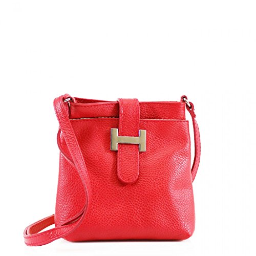 Craze London New Womens Cross Body Shoulder Bags Ladies Genuine Leather Messenger Bags Red