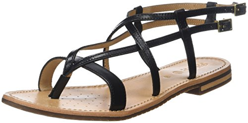 D Women's Geox Open C Toe Sandals Black Sozy xpx1wr