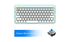 Bluetooth Mechanical Keyboards, LOFREE Four Seasons Retro Vintage Mechanical Keyboard with Gateron Blue Switch/White LED Backlit/USB Wired, Wireless Gaming Mechanical Keyboard for Mac Windows