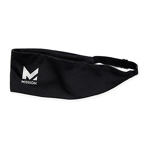 Mission Stay Cool HydroActive LD Headband in Black