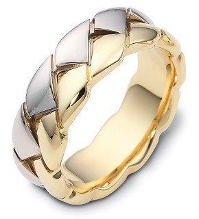 Dora Ring Titanium (8mm Wide 18 Karat Yellow Gold & Titanium Wedding Band - 12.25)