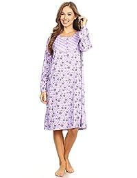 Lati Fashion 6010 Women Nightgown Sleepwear Woman Long Sleeve Sleep Dress 6c1b49a6a
