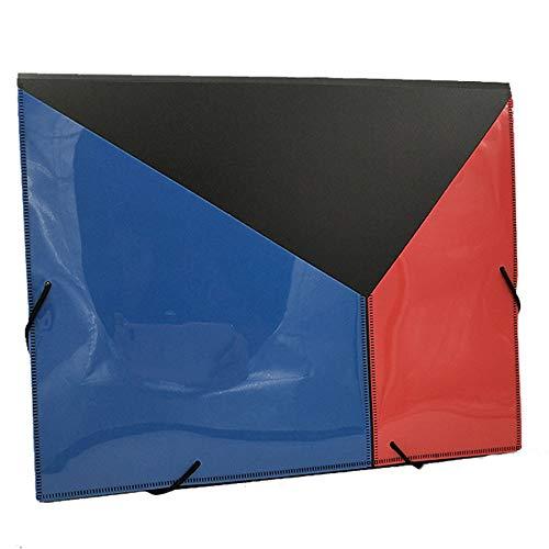 Jiaa Organizador Bolsa Carpeta 12 Rejilla A4 Clasificación Portátil Paquete de Archivos de Plástico,Arco Iris,32cm×24cm