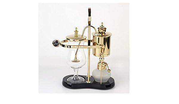 Diseño de moda cafetera sifón cafetera belga real , gold: Amazon ...