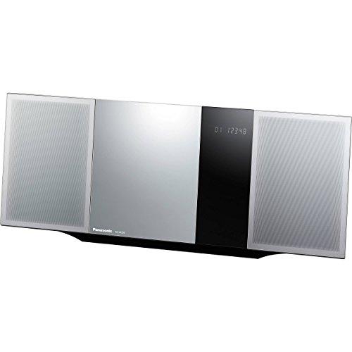 Panasonic Micro Home Audio Sound System SC-HC39 (Metallic Silver) Bluetooth Music Play, Stylish (Speaker Panasonic Speakers)