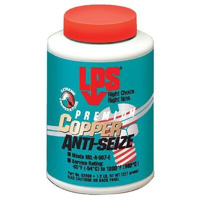 LPS Anti-Seize Lubricant, Military Grade, Copper, 1/2 lb (02908) by LPS