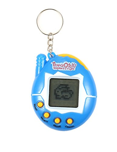 (Electronic Tiny Pet Toy, Child Nostalgic Tamagotchi Virtual Cyber Game Machine Mini Pet Funny Game Machine with Keychain (Solid Color))
