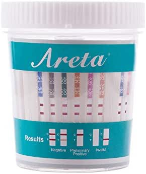 5 Pack Areta 12 Panel Instant Drug Test Cup -Testing Instantly for 12 Different Drugs:BUP,THC,COC,MOP,MET,OXY,AMP,BAR,BZO,MTD,MDMA,PCP -#ACDOA-6125B