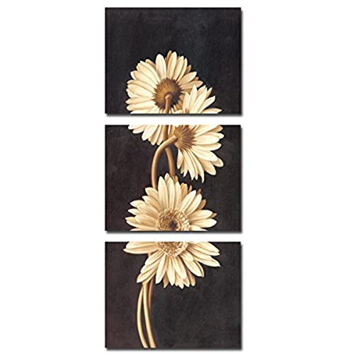 Vertical Version Of Chrysanthemum Frameless Paintings Canvas Modern Art Of  Three Pieces,canvas Prints,painting Canvas Panels , Wall Decal