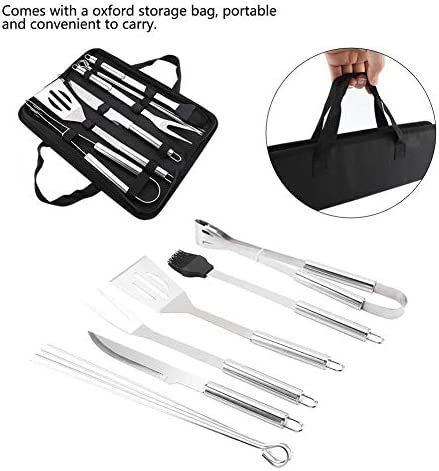 Barbecue Ustensiles Set, 9Pcs / Set Outils for barbecue en acier inoxydable Set Barbecue Ustensiles Accessoires Kit avec Sac Oxford