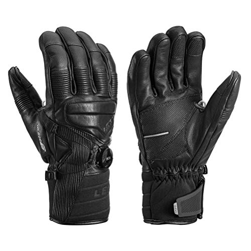 (LEKI Progressive Tune Leather Boa MF Touch Glove - Men's Black, 9)
